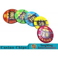 3.3mm Thickness Plastic Casino Poker Chip Set With 760pcs In An Inner Box