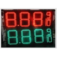 Quality 20'' Red / green color LED Gas Station Sign for Fuel advertising Petrol , 8000nits Brightness for sale