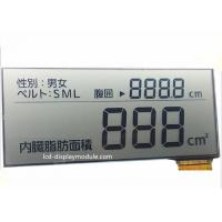 Quality 5.0V FPC Segment TN LCD Display , Intruments Meters Monochrome LCD Display for sale