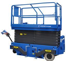 Quality Blue 9m Mobile Scissor Lift Platform , Hydraulic Work Platform Lift 2.25 ×1 .16 × 1.6 for sale