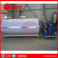 Quality Large Scale Stainless Steel Horizontal Milk Cooling Tank 380v / 220v 2000L for sale
