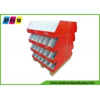 Quality Retail Case Stacker Cardboard Pallet Trays , Cardboard Floor Displays For Knitting Wool PA024 for sale