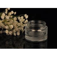 Quality Oval Shape Glass Cosmetic Jars , Acrylic Clear Cosmetic Jars Capacity 50ml for sale