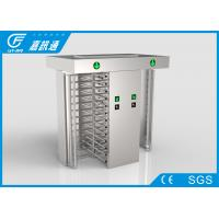 Quality Stadium Double Lane Access Control One Way Gate , Mechanical Full Body Turnstile for sale