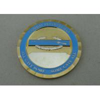Quality Brass Two Tones Plating custom military coins soft enamel For Combat Infantryman for sale