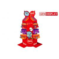 Quality Red Cardboard Beverage Floor Display Stand With Grossy Printed for sale