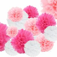 China Outdoor Paper Flower Decorations / 25cm Tissue Paper Hanging Wedding Decorations on sale