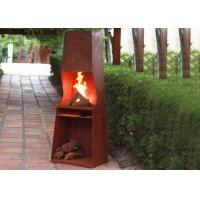 Quality Weather Resistant Corten Steel Fire Pit Rustproof OEM / ODM Available for sale