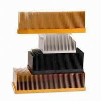 Quality T4 , T5 Clear Smooth Aluminum Heatsink Extrusion Profiles With Wood Chromizing / Chromising for sale