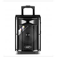 Quality Loud Portable Battery Powered Speakers On Wheels , Bluetooth Trolley Speaker for sale