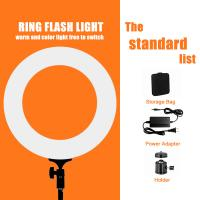 China Pink White Black 12/18 Inch Dimmable Led Ring Light / Ring Light For Video on sale