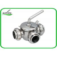 Quality 10 Bar Hygienic Valves Straight Way Three Way Plug Valve With Rapid Assembly for sale