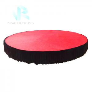 Quality 360 Degree Electric Stage Equipment For Car Motorized Rotating Platform for sale