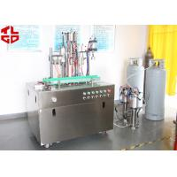 Quality Efficient Can Filling Machine For Adhesive Remover Spray Semi Automatic 800-1100cans/Hour for sale