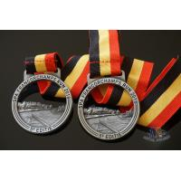 Buy cheap Running Racing Metal Award Medals Cut Out On Design With Strip Ribbon from wholesalers