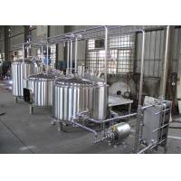 Quality Semi-Automatic Craft Beer Brewing Equipment Mirror Polish Inner Surface for sale