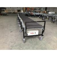 China Flexible Rubber Coated Powered Roller Conveyor for transport bags on sale