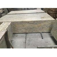 Quality Golden Solid Granite Countertops , Kitchen / Bathroom Granite Countertop Slabs for sale