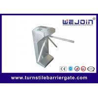 Quality Stainless steel Fingerprint Tripod turnstile gate with RFID reader for sale