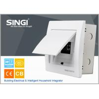 Quality 6 ways electrical distribution box design flexibly U-tape frame power distribution box singi ivorywhite distribution box for sale