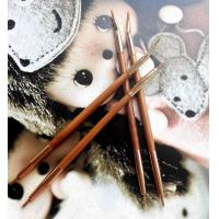 Buy cheap Double Head Lip Liner Brushes , Cosmetic Eyeliner Brush Bamboo Handle from wholesalers