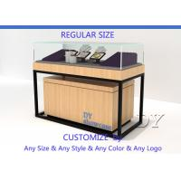 Buy Luxury Veneer Stain Steel Jewellery Shop Counter With Large Storage at wholesale prices