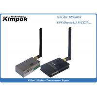 Quality 1200mW Analog Video Transmitter , 5.8Ghz Wireless CCTV Video Transmitter & Receiver for sale
