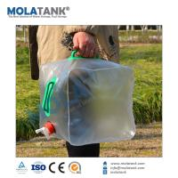 China Collapsible Camp Hiking Clean Wash foldable Water plastic Water Storage Bucket Carrier on sale