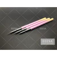 Quality Ombre Metal Handle Nail Art Brushes Round Hair Shape No Deformation With Cap for sale