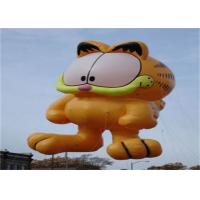 China Advertising Inflatable Cartoon Cat Character Balloon , Giant Animals Flying Ball on sale