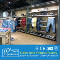 Quality Good quality clothes store wood display shelf, top hot! for sale