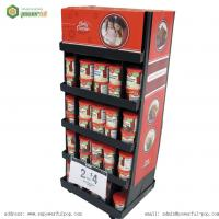 China Tomato Sauce Carton Floor Display, Corrugated Floor Display Unit on sale