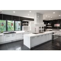 Quality modern white solid wood custom cabinets new kitchen cabinet design for sale