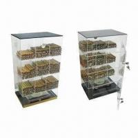 Quality Acrylic Cigar Display Humidor with Humidifier and Hygrometer for sale