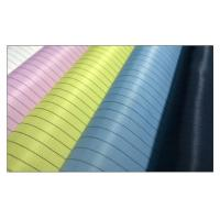 Quality 5mm Strip Esd Clothing Material Grid / Streak Cleanroom Fabric Carbon Fiber for sale