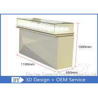 Quality Modern Nice Beige Glasses Jewellery Showroom Counter Designs for sale