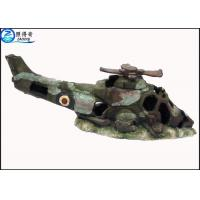 Buy Old Debris Fighter Airplane Cool Aquarium Resin Ornament Tropical Fish Tank Decorations at wholesale prices