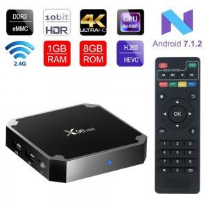 China 4K Smart TV Box  X96 Mini Android 7.1 OS , Android Set Top Box 2GB 16GB Amlogic S905W Quad Core on sale