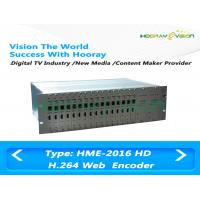 China UDP RTMP Type Digital TV Encoder 30 Video Frame with 16 channels HDMI input on sale