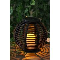 Quality Rattan Solar Garden Lights Solar panel 2V / 40MA Feature Decorating and lighting Material Plastic Support OEM/ODM china for sale