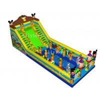 Buy cheap PVC big Jungel Inflatable Slide Disney Inflatable Slide  With a Pool Inside from wholesalers