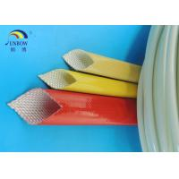 Quality Waterproof Polyurethane Fiberglass braided Insulation electrical sleeving For F grade electric motor#SB-PUGS for sale