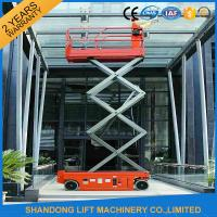 China Battery Powered Self Propelled Scissor Lift Platform for Aerial Installation / Maintenance Working on sale