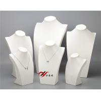 Quality Necklace Wooden Display Stand , White 6 Pcs / Set Pu Leather Jewelry Stand for sale