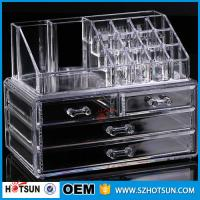 Quality PS or Acryic Lipsticker holder, Acrylic makeup organizer with four drawer for sale