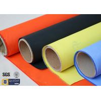 Quality Acrylic Coated Fibreglass Fabric Orange 7628 260℃ 500℉ Chemical Resistant for sale