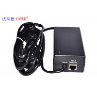 Quality Black POE Power Adapter 10 / 100Mbps IEEE 802.3af Compliant Compact Size for sale