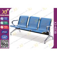 Quality Hospital Iron Structure Full Welding 3 Seater Waiting Chair With Cushion for sale