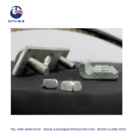 Quality ISO9001 0.25 Inch 8KN 3 Bolt ADSS Suspension Clamp , Straight Suspension Clamp for sale