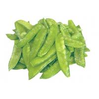 Quality Green IQF Fresh Frozen Foods , 18 Months Shelf Life Frozen Pea Pods for Supermarkets for sale
